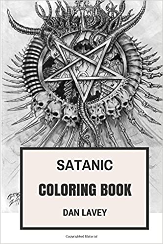 Amazon Satanic Coloring Book LaVeyan Inspired Bible Adult 9781544793955 Dan LaVey Books
