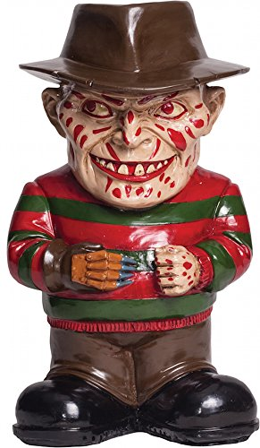 Morbid Enterprises Freddy Krueger Lawn Gnome, Cream/Black/Red/Brown/Green, One (Jason Voorhees Theme)