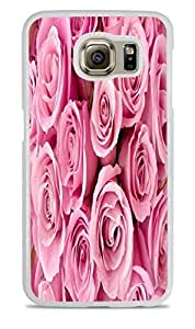 Pretty Pink Baby Roses White Hardshell Case for Samsung Galaxy S6 by ruishername