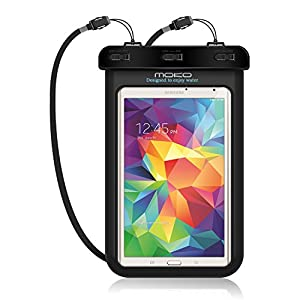 "Universal Waterproof Case, MoKo Dry Bag Pouch for iPad Mini 4/3/2, Samsung Tab 5/4/3, Galaxy Note 8, Tab S2/Tab E/Tab A 8.0, LG G Pad III 8.0, Google Nexus 7(FHD) & More Up to 8.3"" - BLACK"
