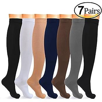 8-15 mmHg Compression Socks Women Men Nursing Compression Stockings Knee High
