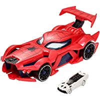 Hot Wheels Marvel Spider-Man Web Car Launch [Amazon Exclusive]