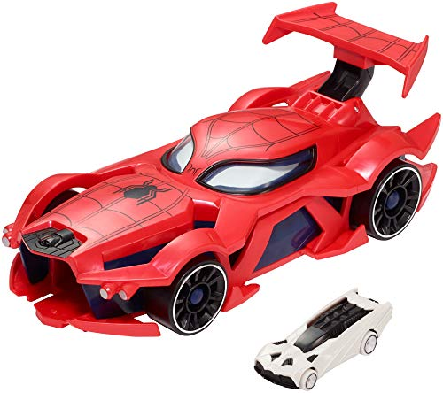 Marvel Hot Wheels Spider-man Web-Car Launcher [Amazon Exclusive] (Man Marvel Spider Web)