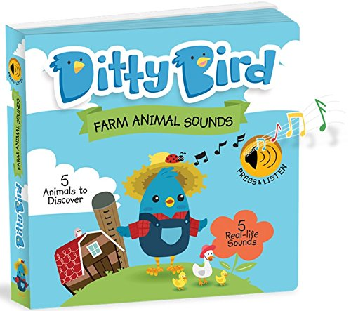 Ditty Bird Our Best Interactive Noisy Farm Book for Babies. Baby Farm Toys for one Year Old. Farm Animal Learning Sound Book for Toddlers .1 Year Old boy Gifts. 1 Year Old Girl Gifts.