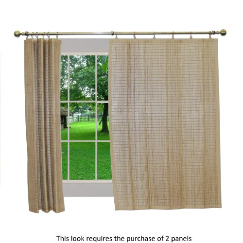 Bamboo Ring Top Curtain BRP05 Window Panel, 40 by 63-Inch, Driftwood