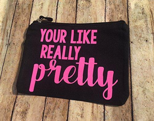 your-like-really-pretty-cosmetic-bag-black-makeup-bag-last-minute-bridesmaid-gift-makeup-bag-machine