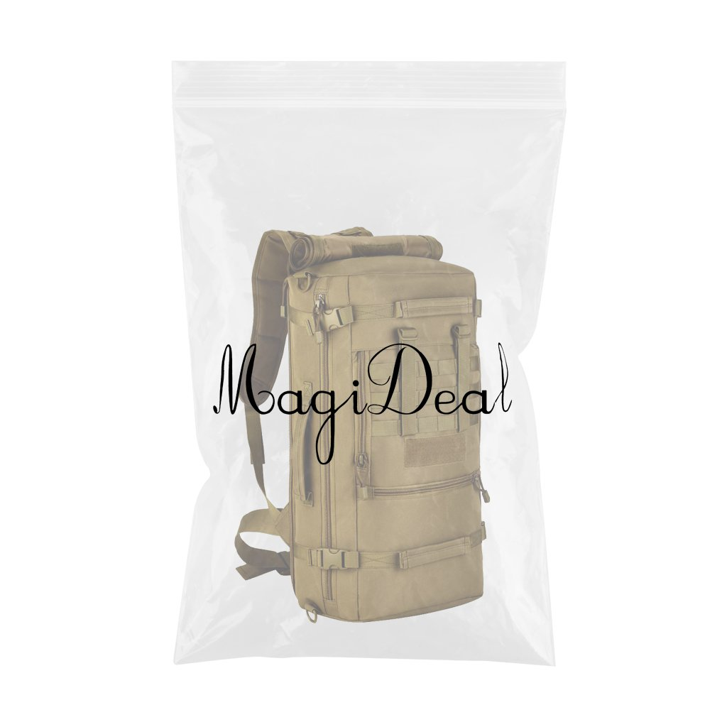 ffd6d664d923f MagiDeal Militärische Reisetasche Taktische Molle Reiserucksack 50L Backpack  Sportrucksack Duffle Bag Wanderrucksack Trekkingrucksack Handtasche ...