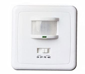 vetrineinrete® Sensor de movimiento y sonido ad integrado a pared con crepuscular Detector de paso