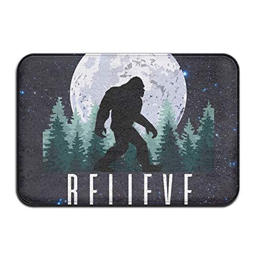 Wyuhmat1 Bigfoot Believe Indoor/Outdoor Doormat | 40 X 60 cm | Non Slip Light-Weight Front Entrance Door Mat Rug, Outside Patio, Inside Entry Way, Catches Dirt Dust Snow & -