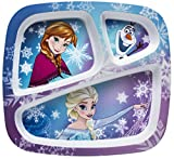 Zak! Designs 3-Section Plate with Elsa, Anna & Olaf from Frozen, BPA-free