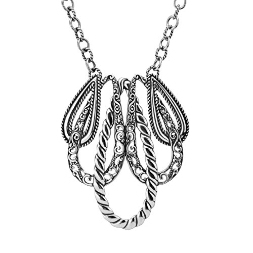 Carolyn Pollack Genuine .925 Sterling Silver Statement Necklace by Carolyn Pollack (Image #9)