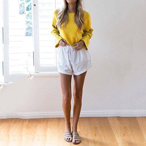 Longues Jaune Sexy Femmesmes À Impression Col Rond Et T shirt Courtes Manches Amuster Haut Pour wgnUzqw6t