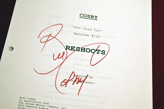 Rare Bill Cosby Collection Signed Autograph Script Dvd Tv Guide