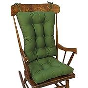 The Gripper Non-Slip Twill Rocking Chair Cushions, Mastic