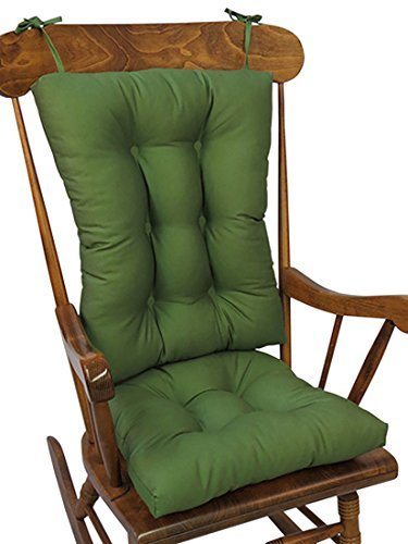 The Gripper Non-Slip Twill Rocking Chair Cushions, Mastic