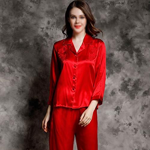 Soft Juego De Para 03 color Ropa L Pijamas Shizheshop Size Dormir Loungewear Manga 02 Mujer Larga aqxXfwIt