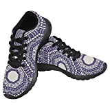 InterestPrint Women's Jogging Running Sneaker Lightweight Go Easy Walking Casual Comfort Sports Running Shoes Size 6 Mandala Review