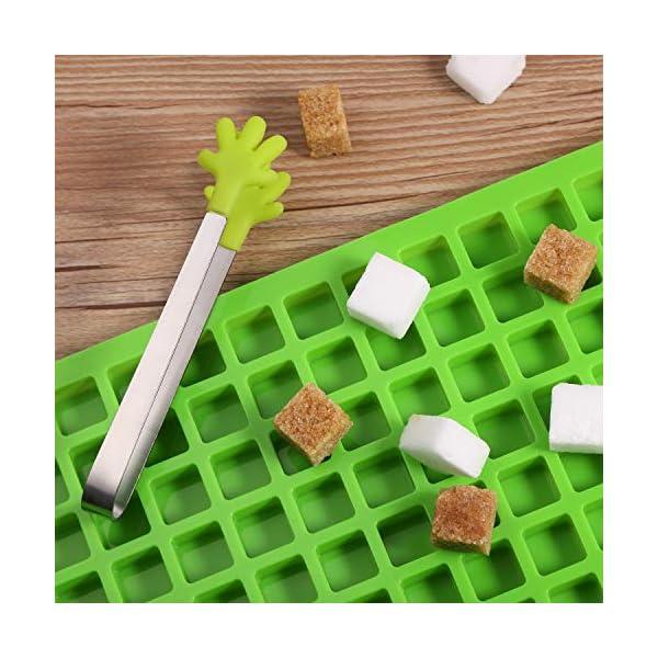 BBTO 2 Pezzi 126-Cavità Stampo Quadrato in Silicone Mini Stampi per Caramelle Vaschetta del Ghiaccio con Clip Contagocce… 5 spesavip