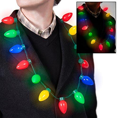 Retro Christmas Necklace Flashing Lights