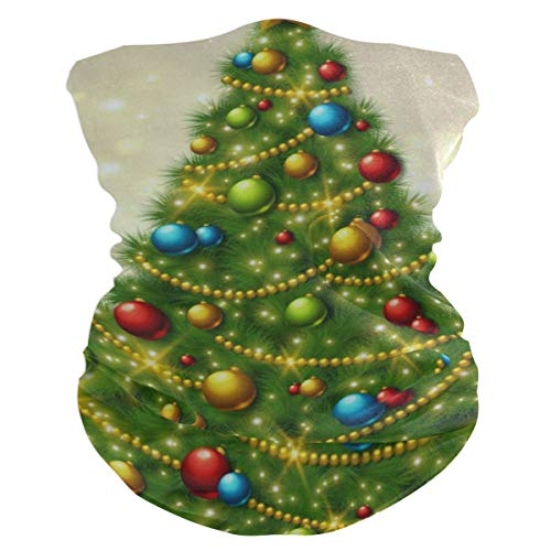 (Christmas Tree Round Ball Outdoor Magic Headband Multifunctional Elastic Seamless BandanScarf UV Resistence Sport Headwear)