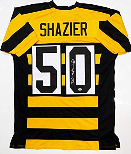 sale retailer aedb2 3218e Ryan Shazier Autographed Black/Yellow Pro Style Jersey ...