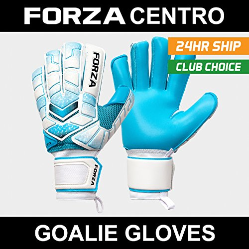 Forza Centro Goalkeeper Gloves - Soccer Gloves for Professional Level 'Keepers - Suitable for Youth and Senior Goalkeepers [Net World Sports] (Size 7 (Large Youth))