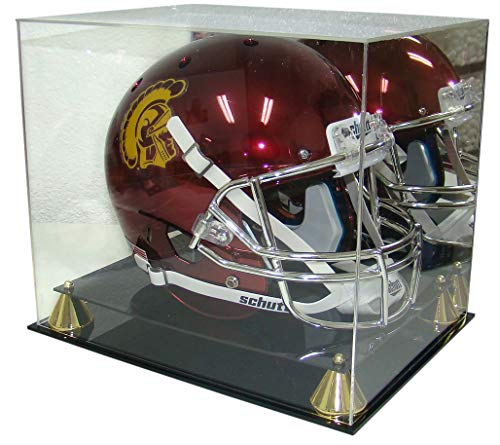 Collectible Supplies Football Full Size Pro Helmet Display Case with Mirrored Back