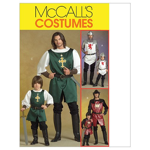 McCall's Patterns M5500 Men's/Children's/ Boys' Knight, Prince and Samurai Costumes, Size KID [(3-4) (5-6) (7-8)]