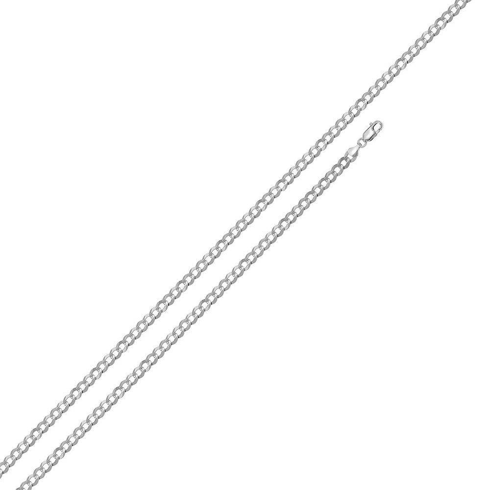High Polished Sterling Silver Super Designer Flat Curb 060 Chain 2.1mm