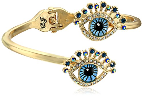 "Betsey Johnson ""Betsey's Delicates Eye Bypass Hinged Bangle Bracelet"