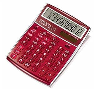 Citizen CCC-112 - Calculadora (Escritorio, Básico, Rojo, 257g, 155,5 x 207 x 33 mm)