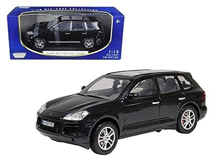 Motormax 73179 2008 Porsche Cayenne Turbo Metallic Black 1/18 Diecast Model Car