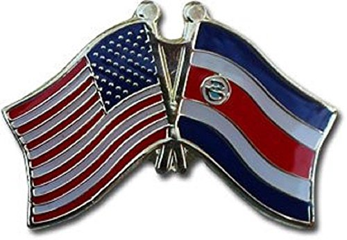 (ALBATROS Pack of 12 USA American Costa Rica Flag Lapel Pin for Bike Hat and Cap for Home and Parades, Official Party, All Weather Indoors Outdoors)
