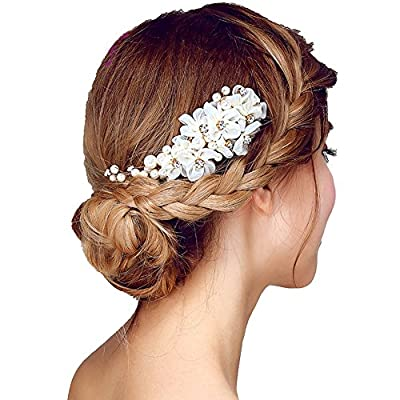 Oureamod Flower Hair Combs Wedding Hair Accessories Bridal Headpiece