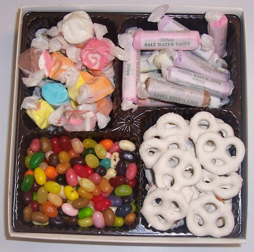 Scott's Cakes Large 4-Pack Assorted Jelly Beans, Yogurt Pretzels, Salt Water Taffy, & Nougat Taffy