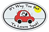 in car fridge - Oval Shaped Car Magnet - It's Way Too Hot To Leave Spot - Don't Leave Dog in Car - Cars, Trucks, Refrigerators