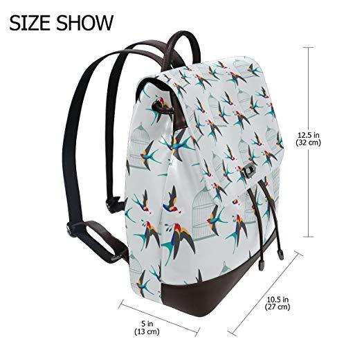 Söt sväljryggsäck handväska mode PU-läder ryggsäck ledig ryggsäck för kvinnor