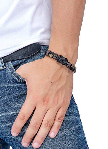 Jstyle Jewelry Braided Leather Bracelets for Men Rope Bracelet Bangle