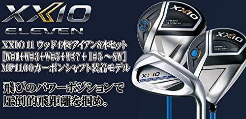 DUNLOP(ダンロップ) XXIO11 ゼクシオ11 ゼクシオ イレブン メンズ ゴルフクラブセット ウッド4本(FW3本)+アイアン8本セット ネイビー メンズ ゴルフクラブ フルセット