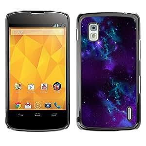 Be Good Phone Accessory // Dura Cáscara cubierta Protectora Caso Carcasa Funda de Protección para LG Google Nexus 4 E960 // Purple Space Galaxy