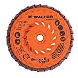 Walter ENDURO-Flex 2 in 1 Abrasive Flap Disc [Pack of 10] - Type 29 Aluminum Oxide Grit with Plastic Backing