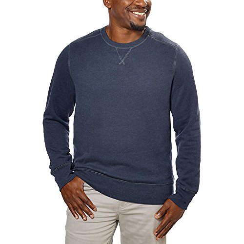 G.H. Bass Mens Crew Neck Sweatshirt,Blue,Medium