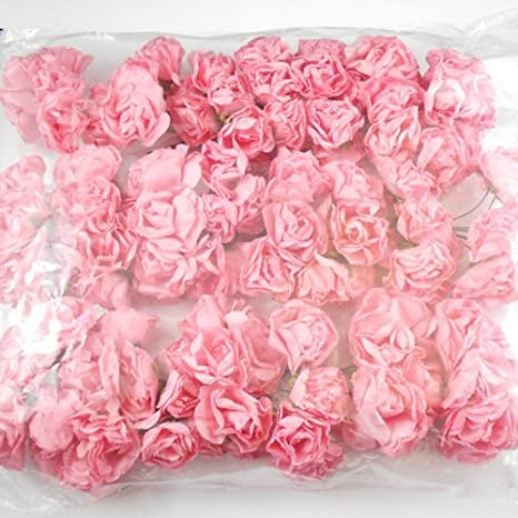29ba41adc 144 Flores de Papel Tipo Mulberry Color Rosa para Manualidades y/o  Decoración: Amazon.es: Hogar