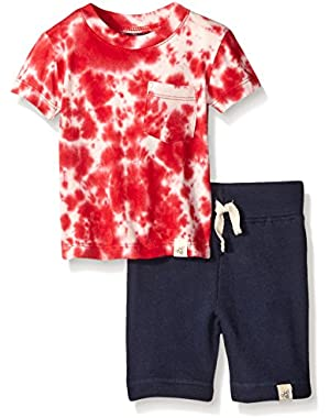 Boys' Organic Star Tee and Loose Pique Short Set