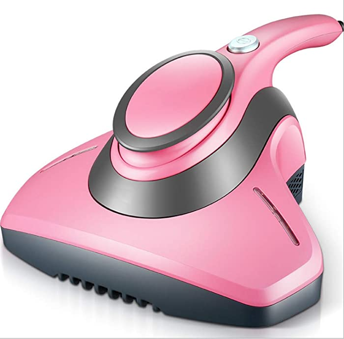 Veekar UV-C Anti-dust Mites Vacuum Cleaner, 8.5 KPa Powerful Suction, Effectively Remove Allergens Hidden in Mattresses, Pillows, Curtains, Sofas and Carpets (Pink)