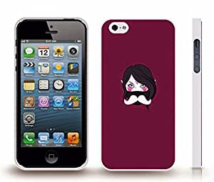 iStar Cases? iPhone 5/5S Case with Anime Masked Character with Mustache , Snap-on Cover, Hard Carrying Case (White) by ruishername