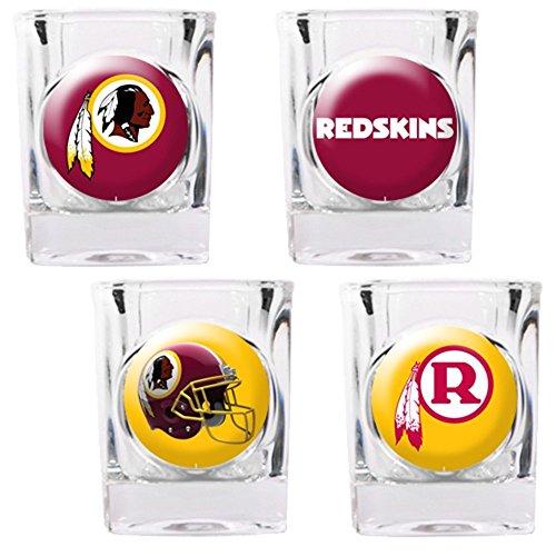 - NFL Washington Redskins Four Piece Square Shot Glass Set (Individual Logos)