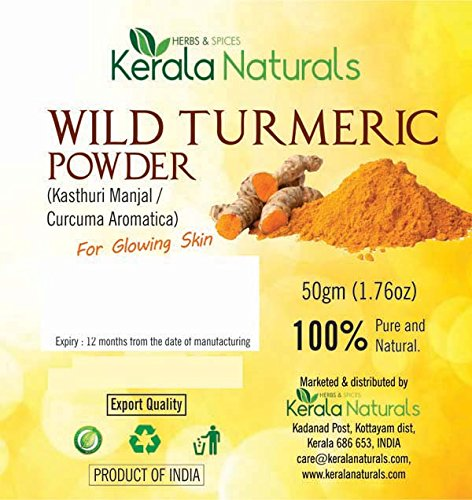 - Wild Turmeric - Kasthuri Manjal: For Glowing Skin - 100 gm (100)
