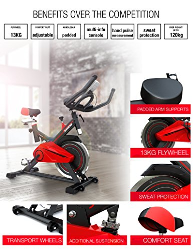 Sportstech-professional-Indoor-Cycle-SX100-with-13KG-flywheel-padded-arm-support-comfort-seat-hand-pulse-Speedbike-with-low-noise-belt-drive-system