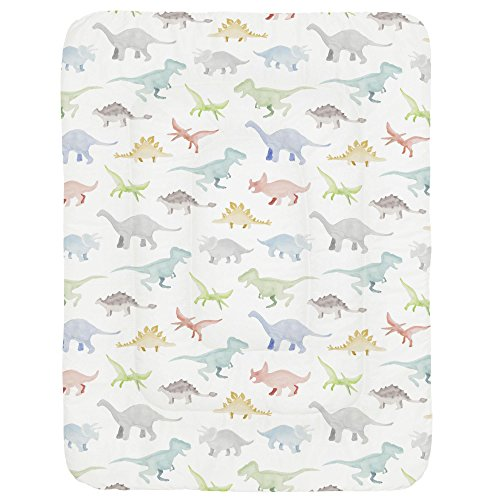 Carousel Designs Watercolor Dinosaurs Crib Comforter ()